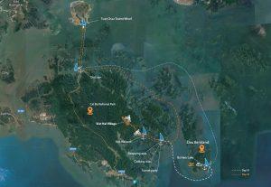serenity Cruise Map